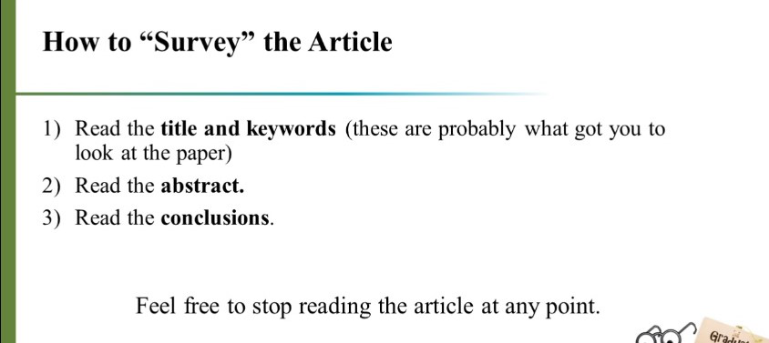 How to Read a Paper Efficiently 2